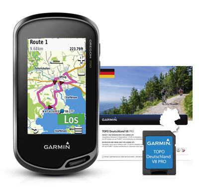 GARMIN GPS Oregon 700 + Topo DE V8 Pro auf microSD