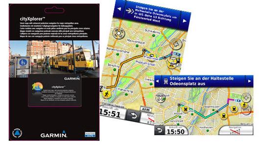 GARMIN cityXplorer Gutscheinkarte