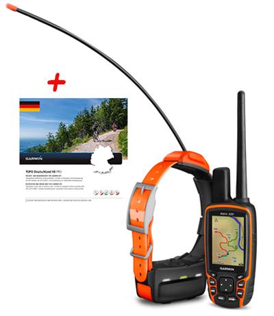 GARMIN Astro 320 BUNDLE mit T5 Halsband und Topo Deutschland v8 Pro