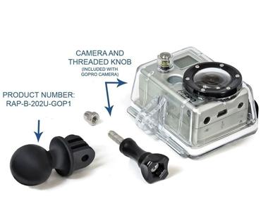 RamMount Kamera-Adapter, für GoPro HERO, GARMIN Virb/X/XE