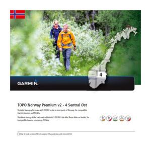 GARMIN Topo Norwegen Premium v2 - 4 Sentral Ost