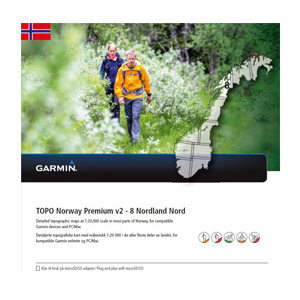 GARMIN Topo Norwegen Premium v2 - 8 Nordland