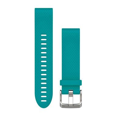 GARMIN QuickFit Ersatz-Armband für fenix 5S, Silikon, 20mm, türkis