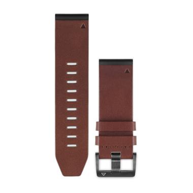 GARMIN QuickFit Ersatz-Armband für fenix 5, Leder, 22mm, braun