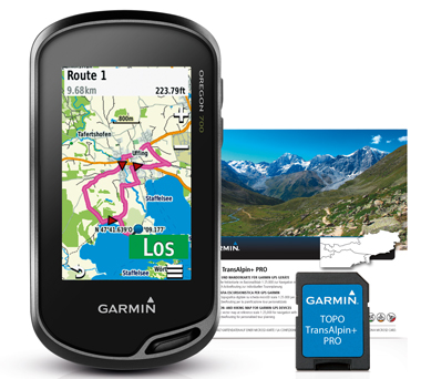 GARMIN GPS Oregon 700 + Topo TransAlpin+ PRO auf microSD