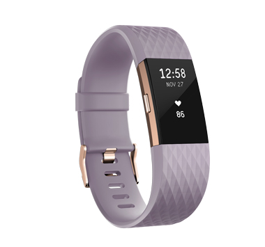 Fitbit CHARGE 2, lavender, rose gold, S