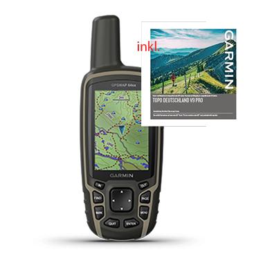 GARMIN GPSMap 64sx + Topo Deutschland V9 Pro auf microSD